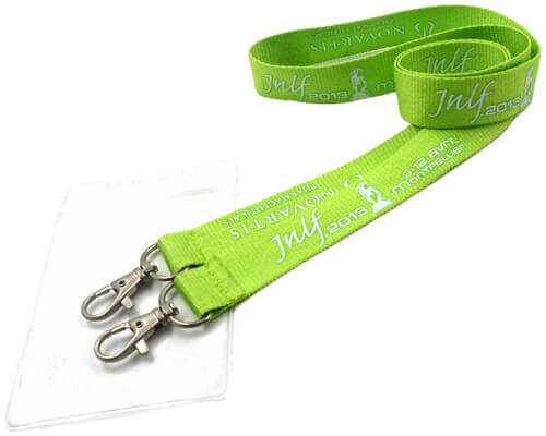 double lanyards to hold id card