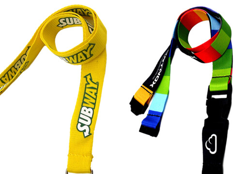 finishings for lanyards printed woven
