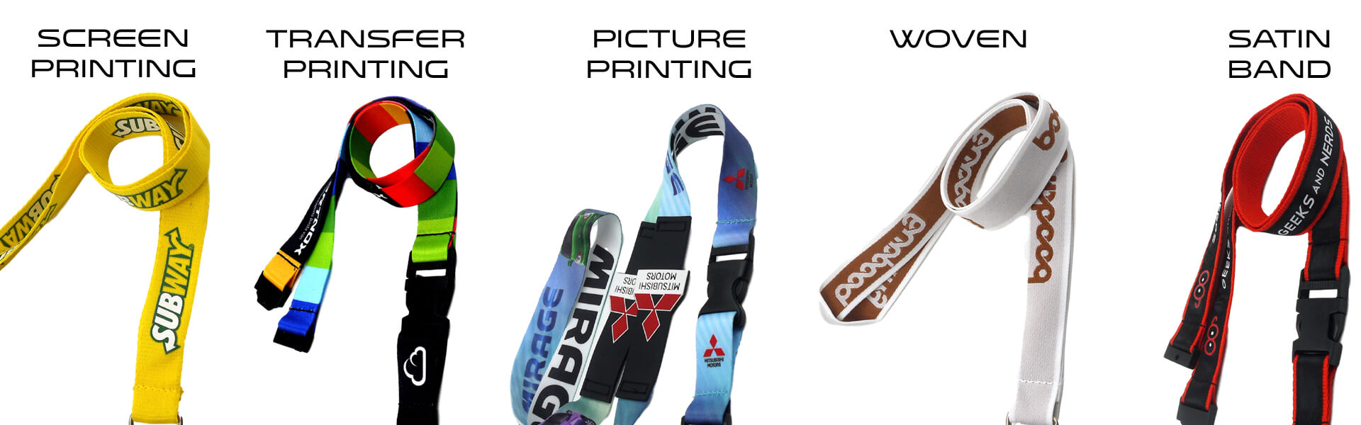 lanyards design possibilities printing woven