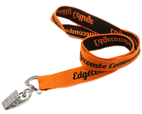 lanyards with woven logo