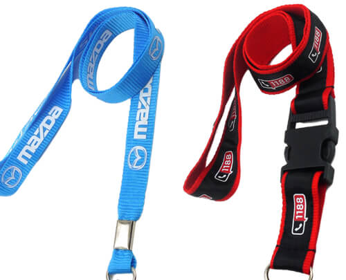materials for lanyards poylester nylon satin silicone